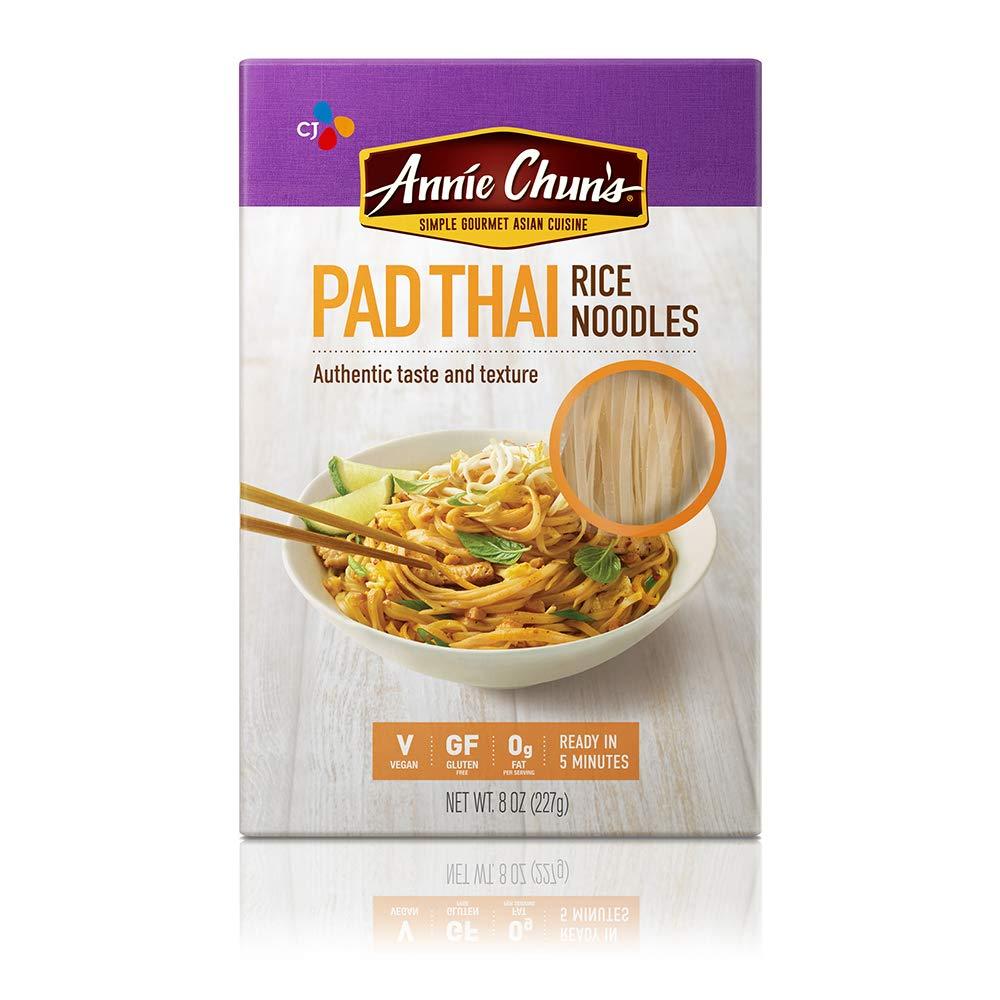 Annie Chun's Rice Noodles, Pad Thai | Vegan, 8-oz (Pack of 6) | Gluten-Free Alternative to Linguine Pasta