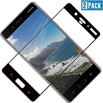 TOCYORIC Protector de Pantalla para Nokia 8, 3D Curvo Full-Cover ...