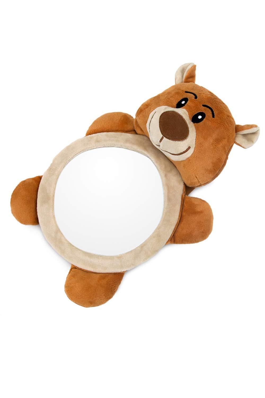 Miroir de Voiture Fixation Facile Animal en Peluche pour Bébé en