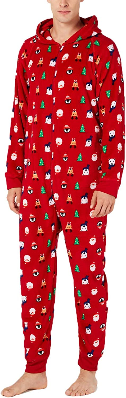 Family PJs Mens Chirstmas Holiday One-Piece Pajamas at  Men's Clothing store