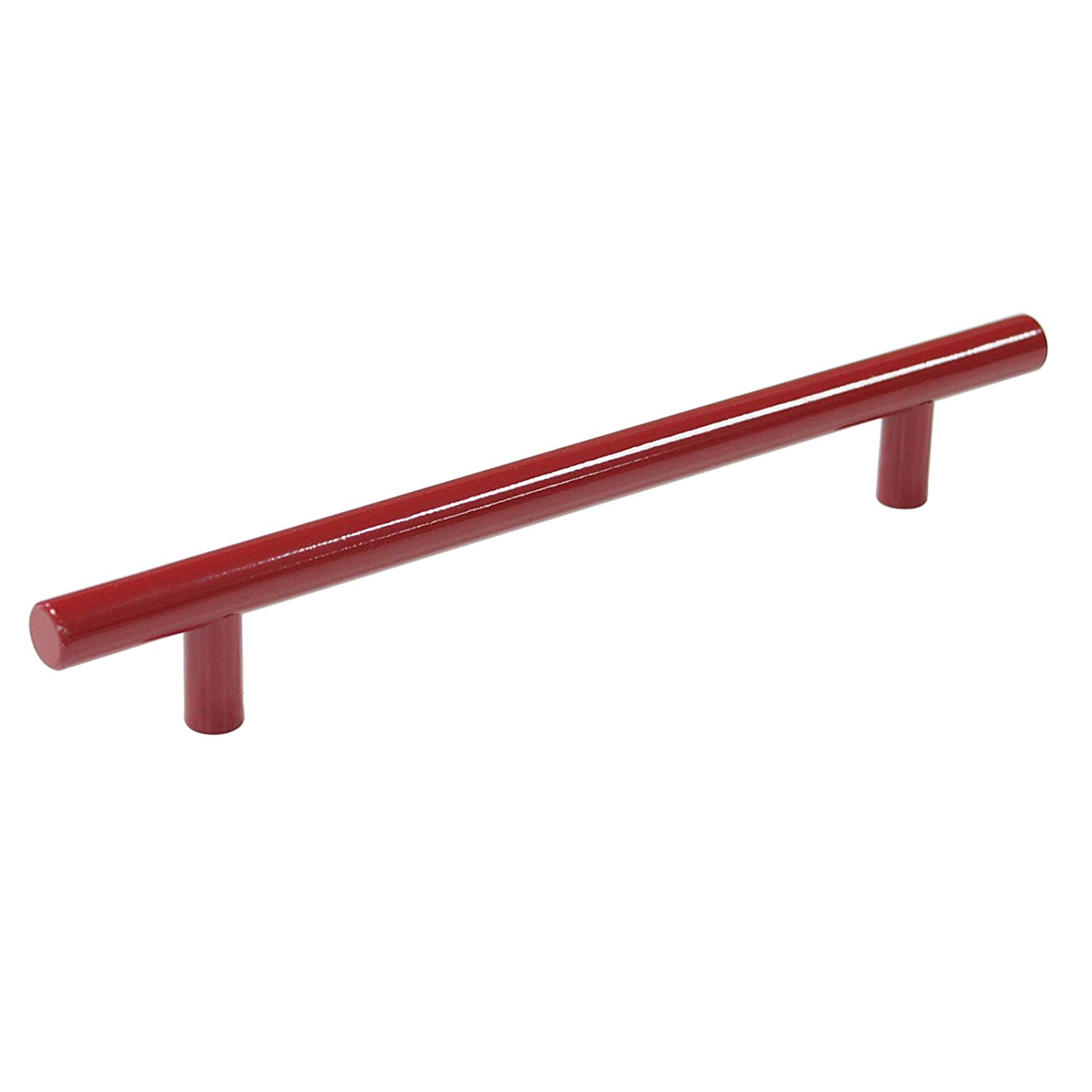 Probrico 5 PCS Hole Spacing 96mm 4' Red Stainless Steel Kitchen Cabinet T Bar Handle Diameter 12mm Drawer Pulls Knobs PD4483HRD96