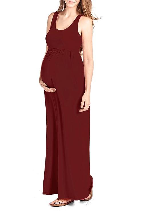 184e34c91729a Beachcoco Women's Maternity Maxi Tank Dress Made in USA at Amazon Women's  Clothing store: