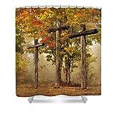 Pixels Shower Curtain (74'' x 71'') ''Amazing Grace''