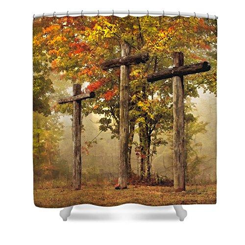 Pixels Shower Curtain (74'' x 71'') ''Amazing Grace'' by Pixels
