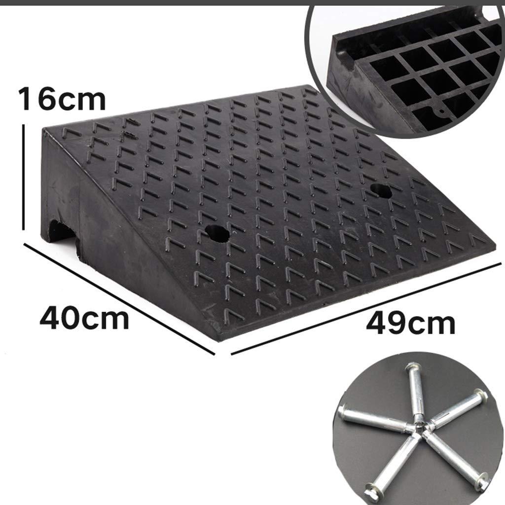 dimensioni : 49 * 49 * 18cm Pad pista stradale Pad in gomma Car Stabile Altezza 11~18 cm Curb Ramps Allaperto Rampe rampe