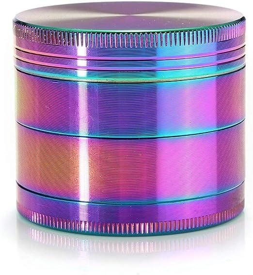 Licuadora 2 Pulgadas de 4 Piezas Rainbow Spice Grinder Humo ...