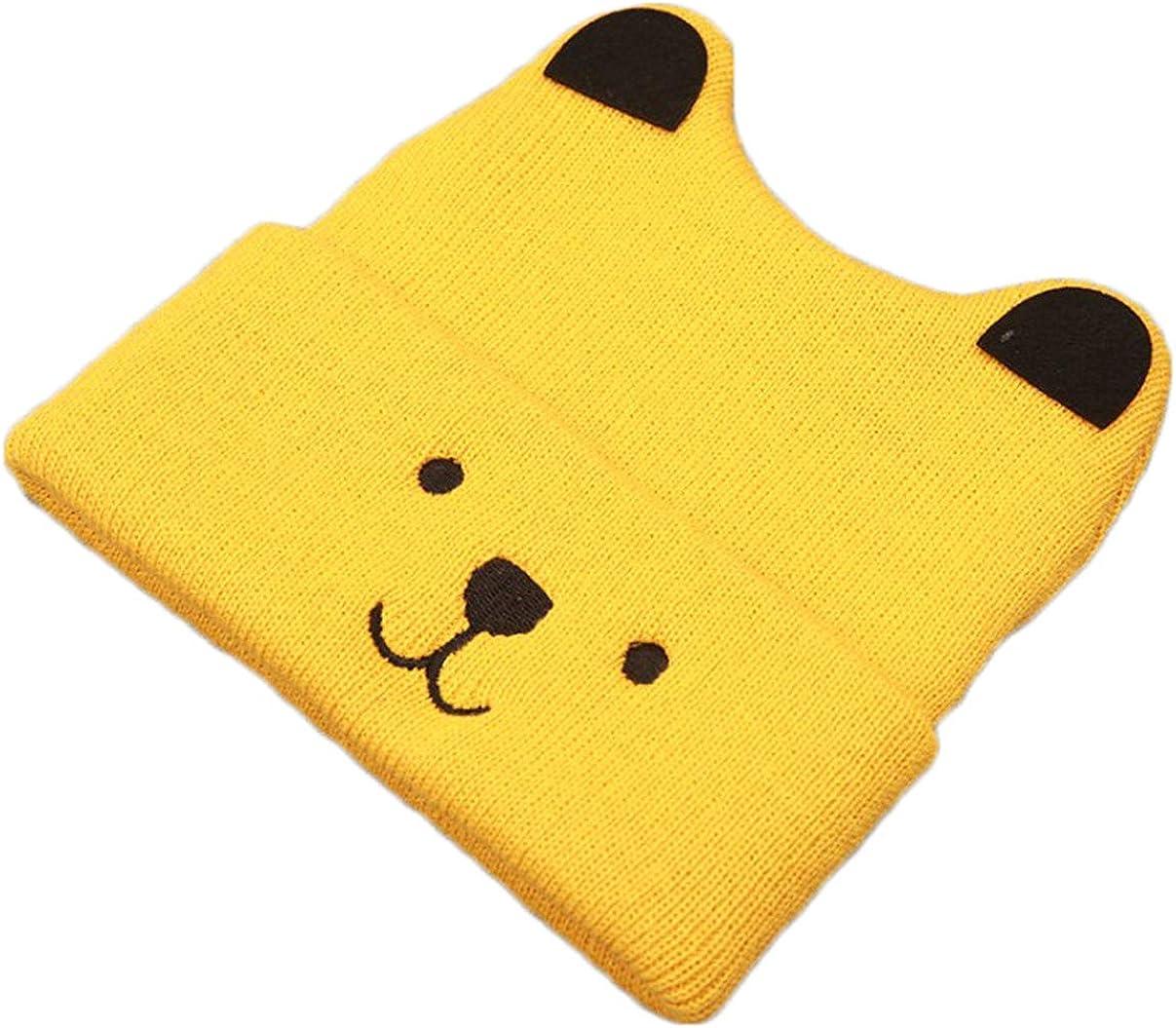 remeo suit Baby Boy Girl Knitted Bear Ears Beanie Cap Cartoon Warm Wool Hat Winter