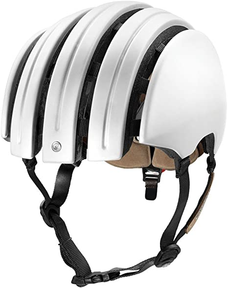 Carrera - Casco de Bicicleta Plegable y Ligero, Color Blanco Mate ...