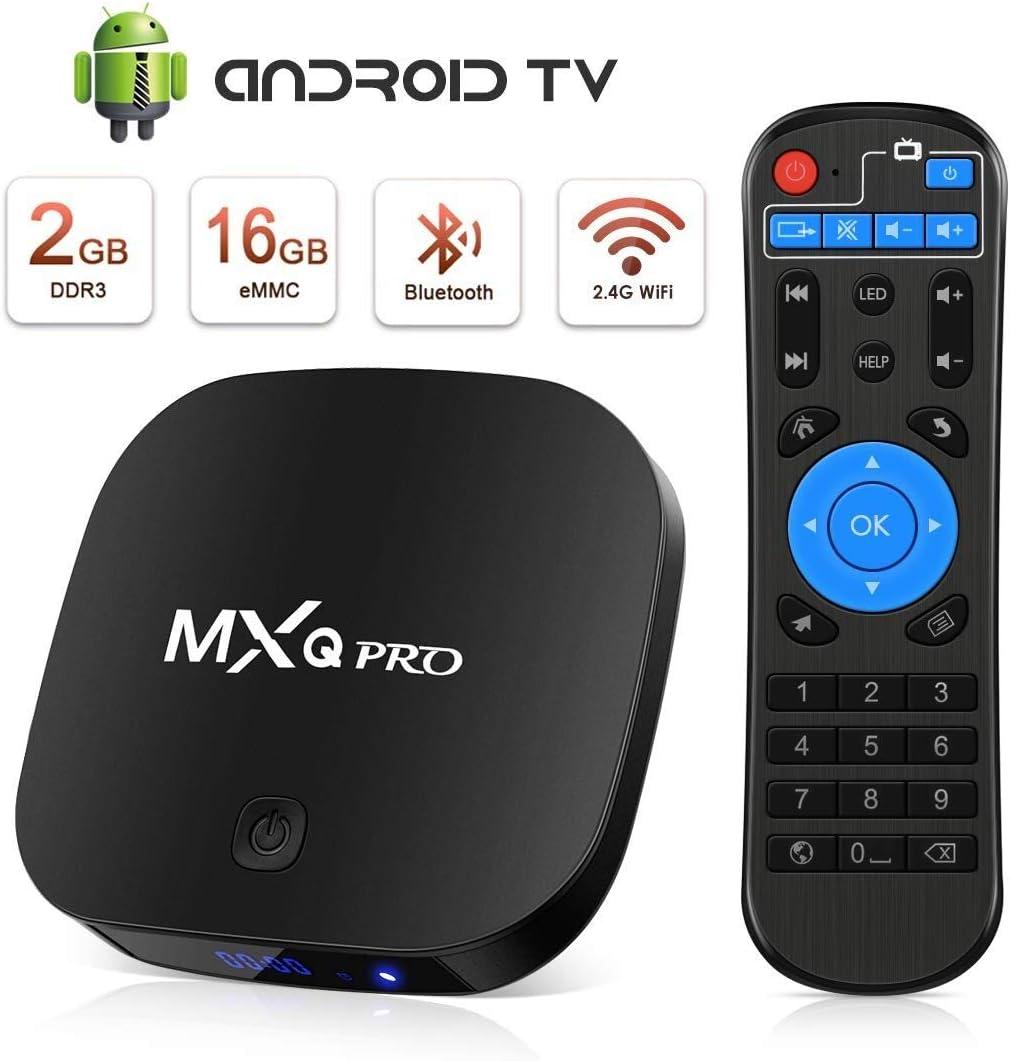 Android TV Box [2GB RAM+16GB ROM], Android TV Box 4K, BT, USB 2.0, UHD H.265, HDMI, Smart TV Box Quad Core Box TV Android: Amazon.es: Electrónica