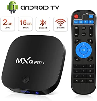 Android TV Box [2GB RAM+16GB ROM], Android TV Box 4K, BT, USB 2.0, UHD H.265, HDMI, Smart TV Box Quad Core Box TV Android: Amazon.es: Electrónica