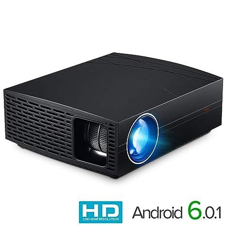 Amazon.com: QUARKJK Proyector LED F20 (Opcional Android ...