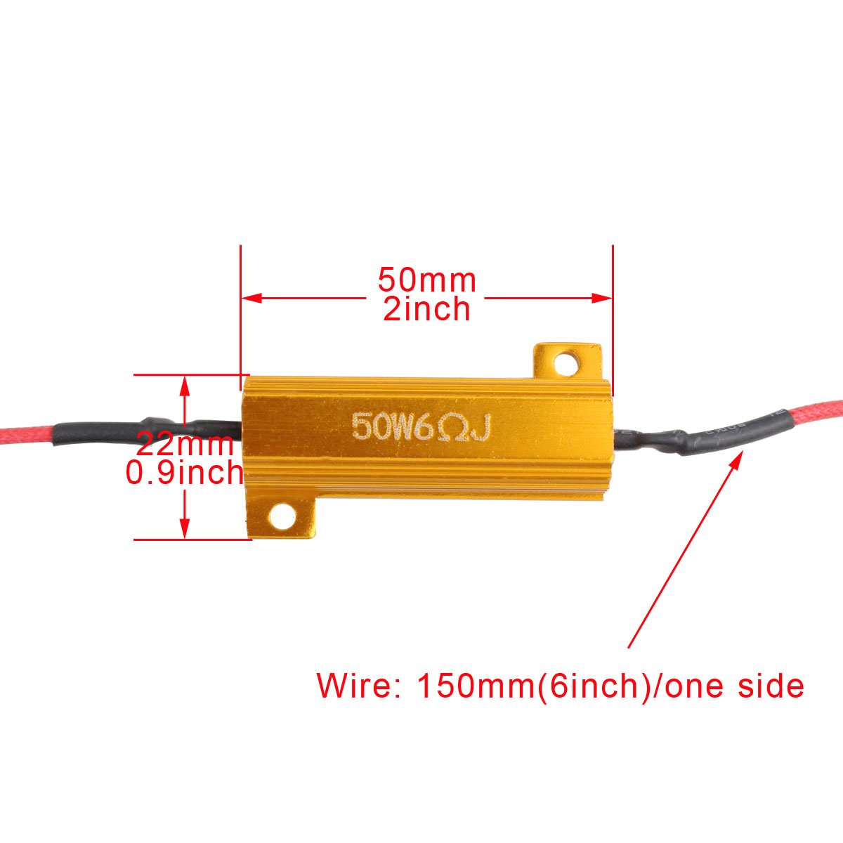 sourcingmap 2 Pcs 9006 9012 HB4 Extension Wiring Harness Socket for Headlight
