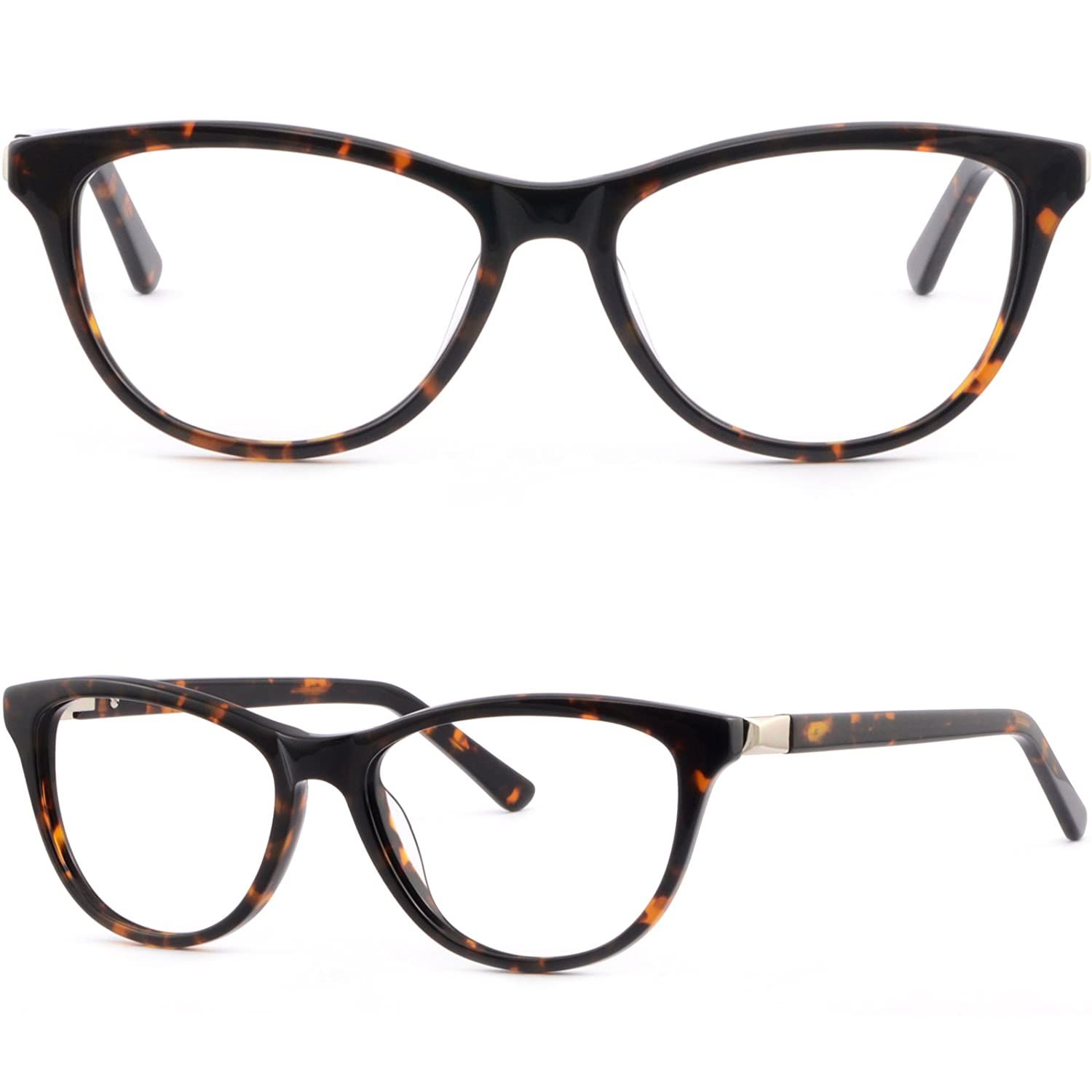 a8ffacec84 Amazon.com  Womens Cat-eye Acetate Frame Spring Hinges Tortoiseshell   Clothing