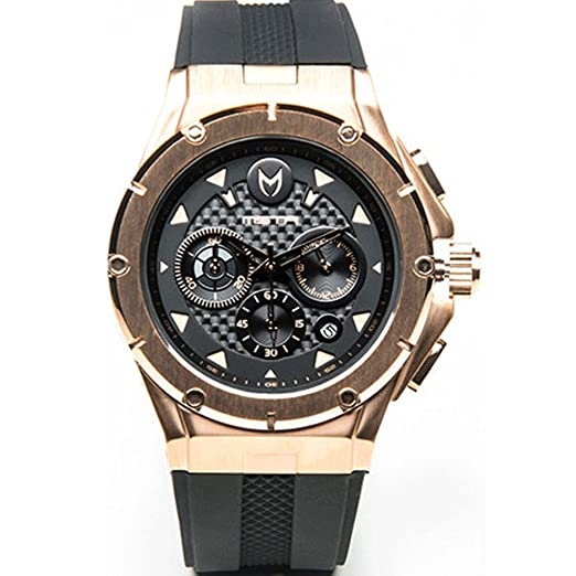 Meister Watches/MSTR relojes hombre Ambassador MK3 Watch | am208rb | Rose Gold & Black
