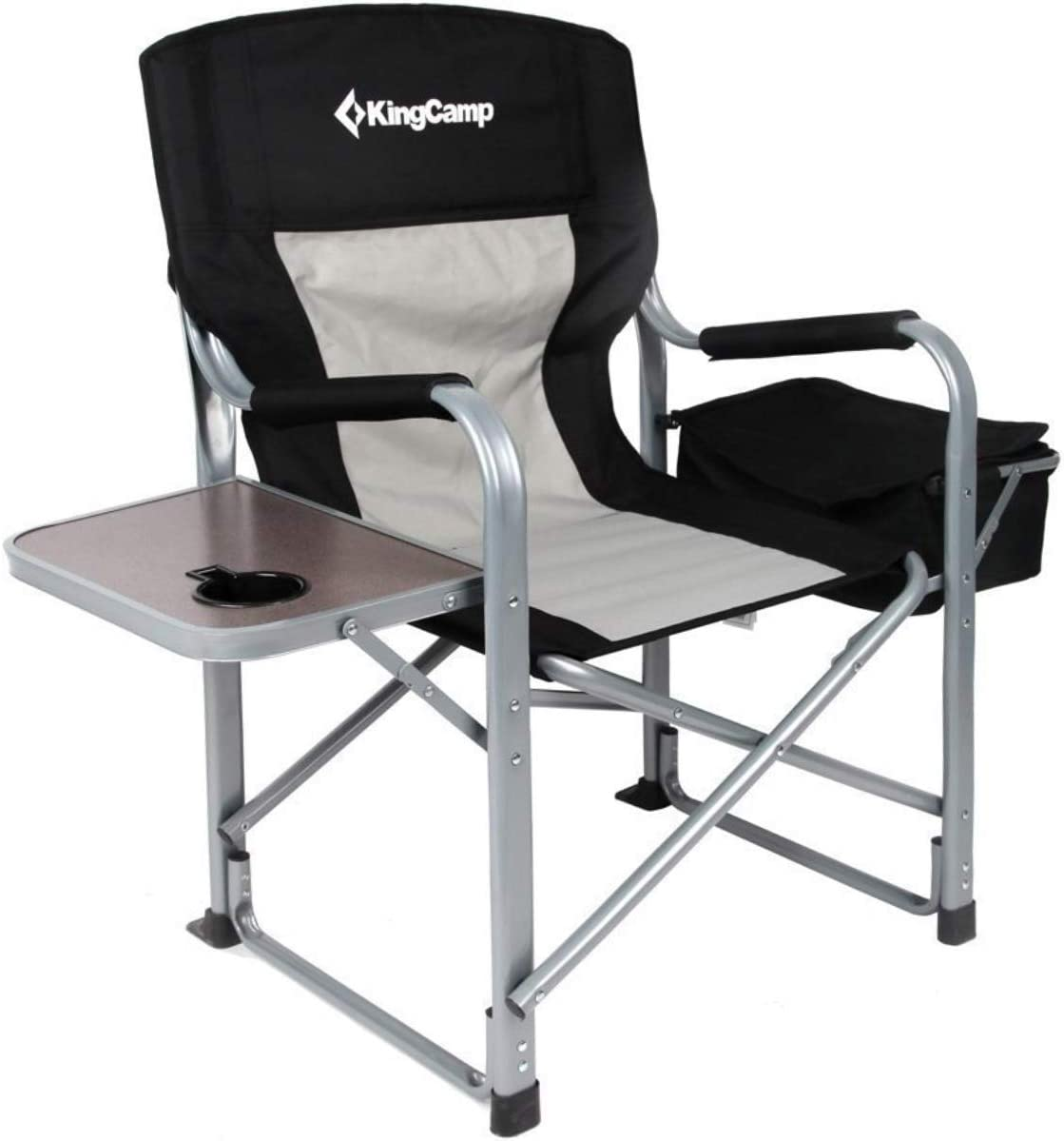 Amazon Com Kingcamp Heavy Duty Steel Camping Folding Director Chair With Cooler Bag And Side Table Sports Outdoors