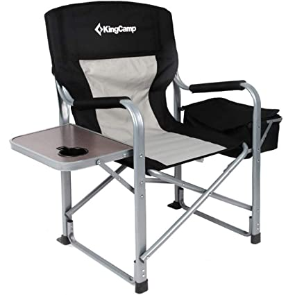 Amazon.com: Silla plegable Kingcamp de acero, silla de ...
