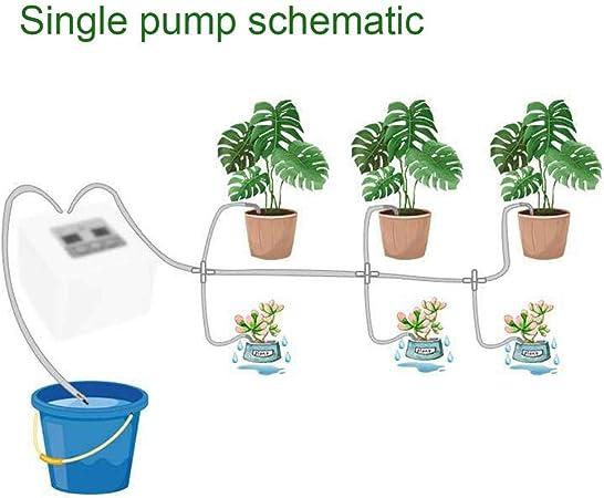 Lucky-all star Sistema de riego automático para contenedores - Temporización Inteligente Riego automático Jardinería en Maceta Herramientas de jardín Goteo Solar Agua filtración: Amazon.es: Hogar