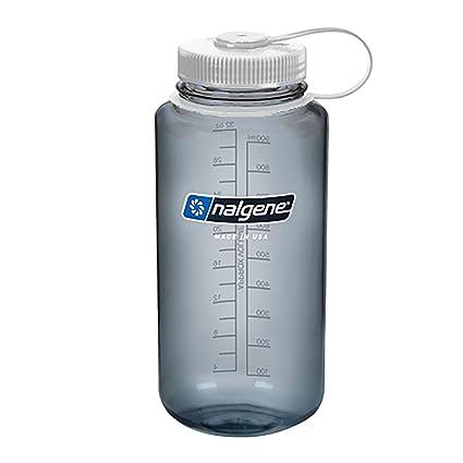 c5e7259db384 Nalgene Wide Mouth Bottle - 32 oz., Gray w/ White Cap