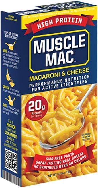 Muscle Mac Queso y macarrones de alta proteína 20g 6.75 onzas ...