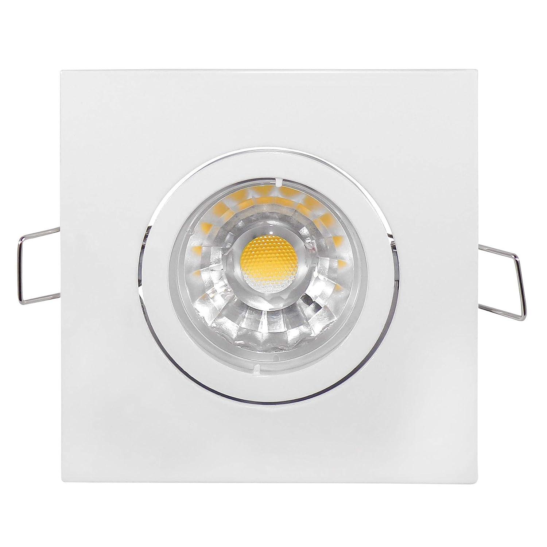Umbriel White–Built-in Light–6Watt COB LED–The Brightest SMD Bulbs Available Emitting 540Lumens Cool White–Dimmable–230V/GU10–Pack