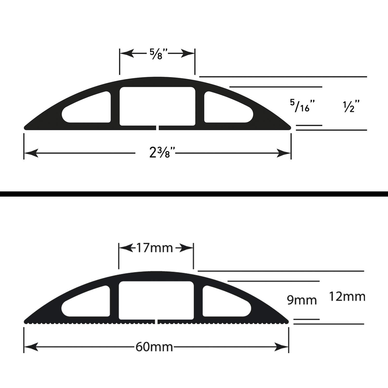 D-Line CC-2 Passage plancher dusage l/éger 1,8m longeur Gris