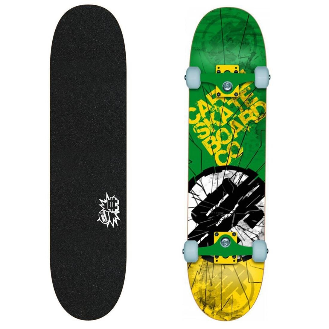CARTEL Skateboard 7.8 Shatter Grün Yellow: Amazon.es ...
