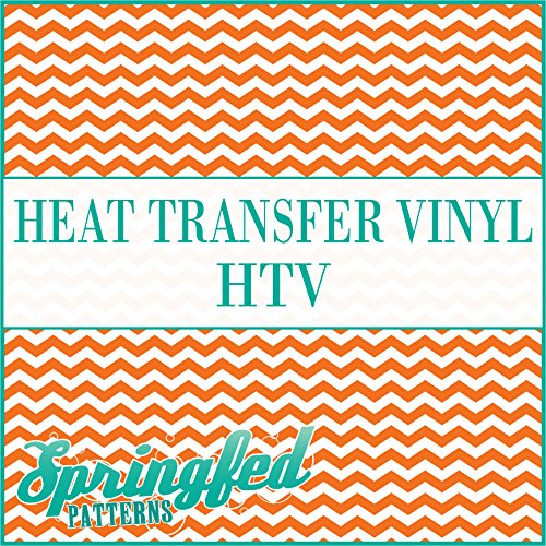 CHEVRON STRIPES PATTERN #1 HTV Orange & White Heat Transfer Vinyl 12