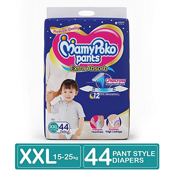 MamyPoko Pants Extra Absorb Diapers, XX-Large (44 Count)