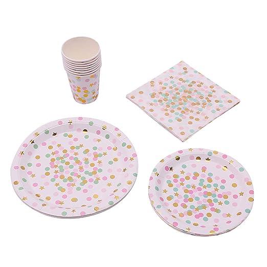 Chiic Vajilla desechable, platos de papel desechables ...