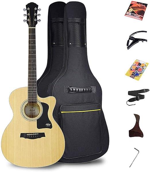 BAIYING-Guitarra Acústica Principiante Guitarra Clasica Práctica ...