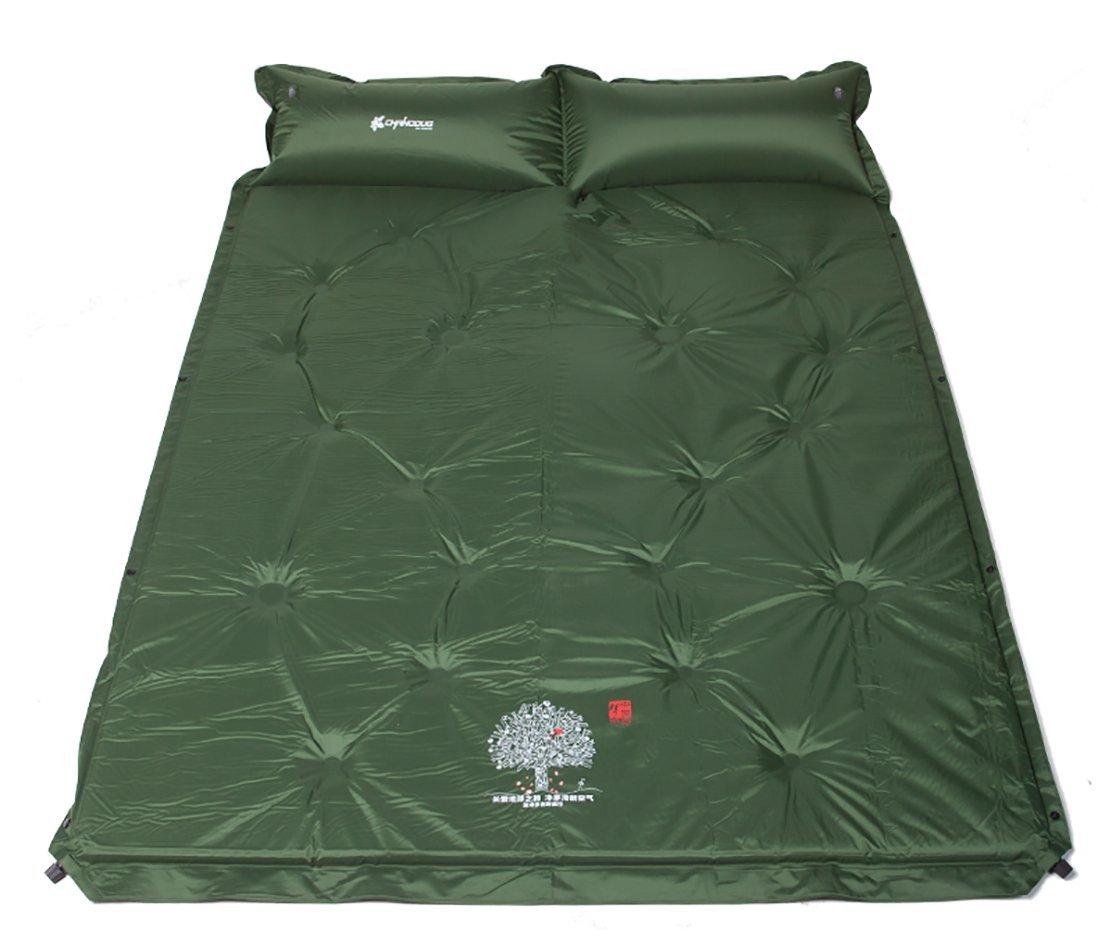 Aoyina Automatische aufblasbare Doppelte Personen-Schlafenauflage-feuchtigkeitsfestes Bett-Blau