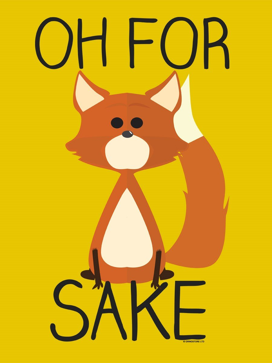 Grindstore Fourre-Tout Oh for Fox Sake Jaune