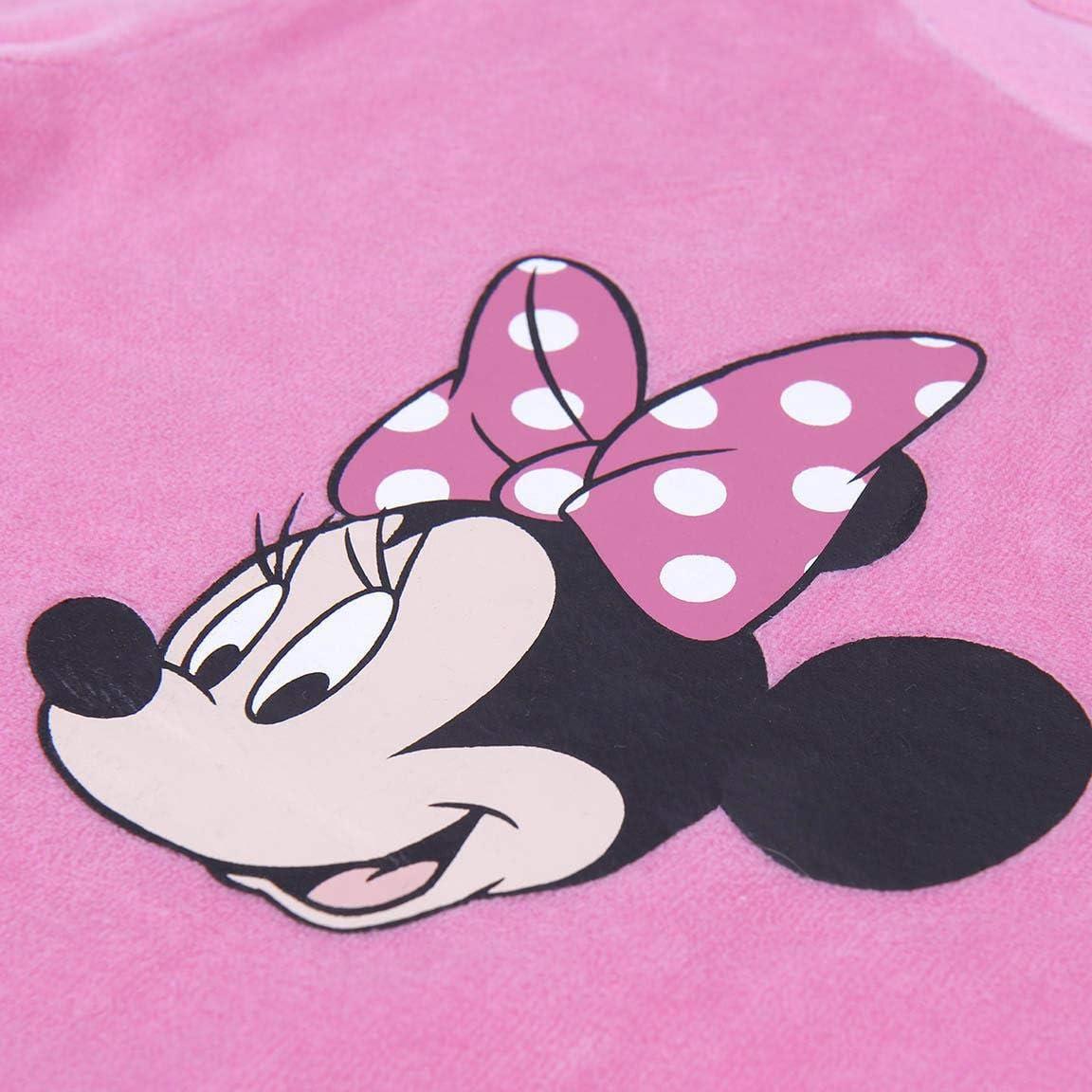 Set Pigiama 2 Pezzi in Velluto e Cotone Super Morbido Regalo per Bambina Disney Minnie Mouse Pigiama per Bambina 2 a 6 Anni Pigiama Invernale Confortevole