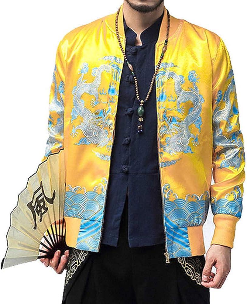 MISYAA China Tang Cardigans for Men Long Sleeve Drogan Totem Cultural Shirt Masculinous Jacket Friend Gifts Mens Tops