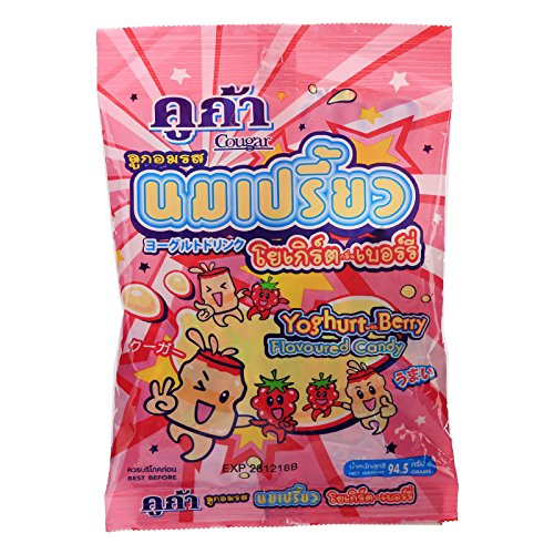 Cougar, Yoghurt with Berry Flavour Candy, net weight 94.5 g (Pack of 3 pieces) / Beststore by KK8