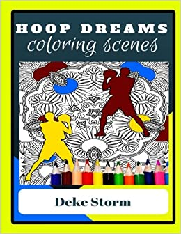 Amazon Com Adult Coloring Book Hoop Dreams Basketball Theme