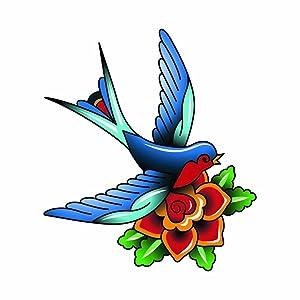 Love Bird Tattoo Art - Full Color Vinyl Decal Sticker for Instant Pot Instapot Pressure Cooker