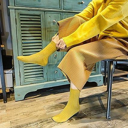 Hembra Hojas largas, c/álida Lana Calcetines Mujer, repleto de Colores Tierra,22-24cm. UMCCY Calcetines de Lana Mujer Caliente