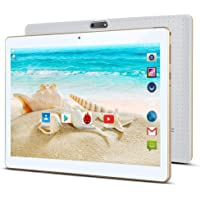"""10 inch Android Tablet with Sim Card Slot Unlocked - KOERA 10.1"""" IPS Quad Core 4GB RAM 64GB ROM GSM Phablet Tablets with WiFi GPS Bluetooth Dual Cameras (White)"""