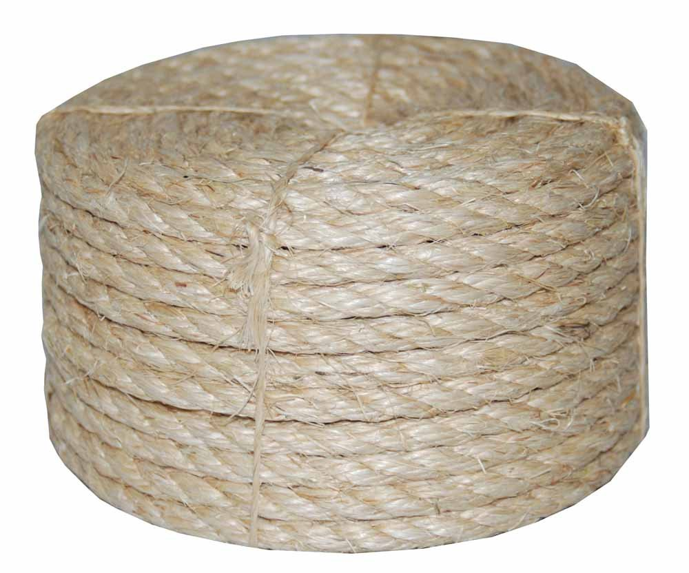 Evans Cordage Co 22-210 1//4 in T.W X 100 ft Twisted Sisal Rope