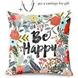 "Challyhope Thanksgiving Day Festival Fall Harvest Decorative Pillow Case Sofa Waist Throw Cushion Cover Print Pillowslip (18""x18"", E)"