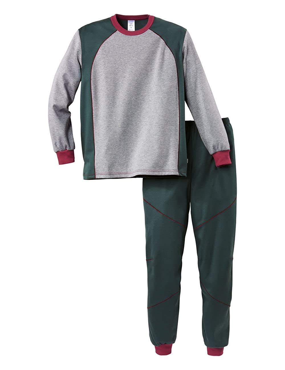 Calida Arctic Hero KNABEN Pyjama mit Bündchen, Conjuntos de Pijama para Niños, Gris (Cinder Grey 858), 152 cm: Amazon.es: Ropa y accesorios