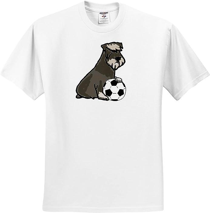31d7e69d Amazon.com: All Smiles Art Pets - Cute Funny Schnauzer Dog Playing Soccer  Cartoon - T-Shirts - Toddler T-Shirt (2T) (TS_263996_15): Clothing