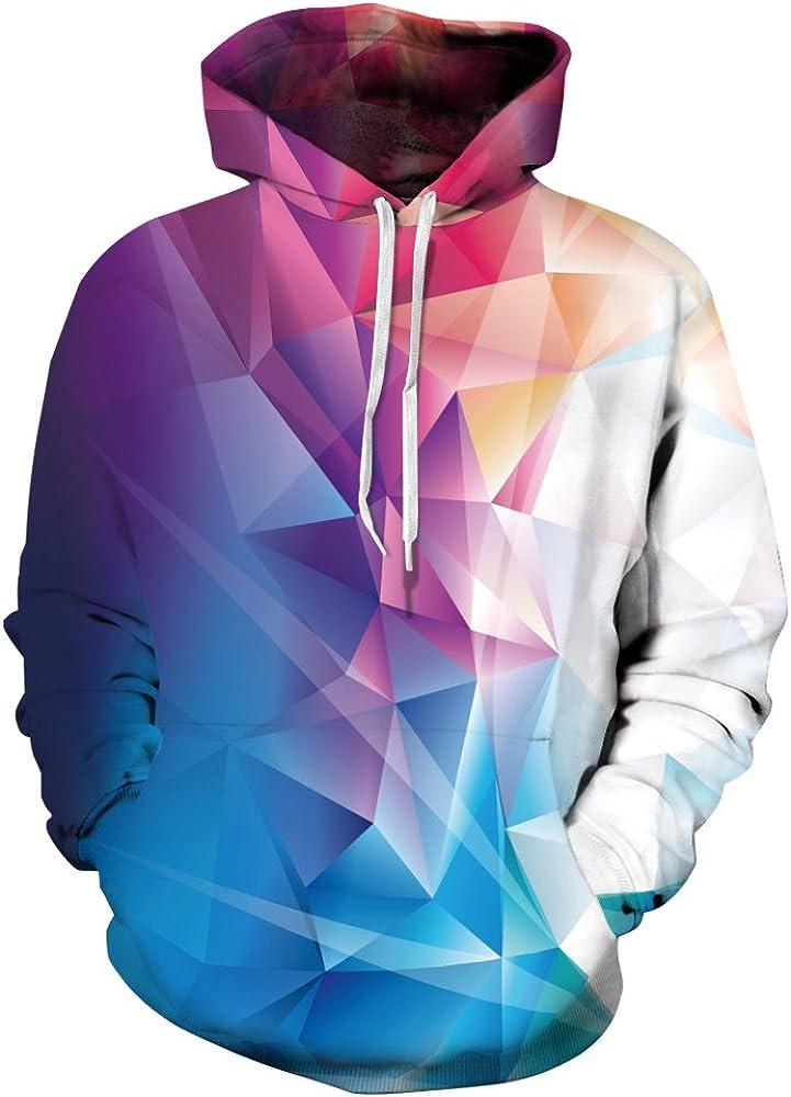 NEWCOSPLAY Unisex Realistic 3D Digital Print Pullover Hoodie Hooded Sweatshirt Lion