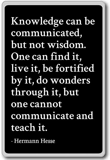Amazoncom Knowledge Can Be Communicated But Not Wisdom