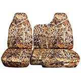 1998 to 2003 Ford Ranger/Mazda B-Series Camo Truck Seat Covers (60/40 Split Bench) - No Armrest/Console: Wetland Camo (16 Prints Available)