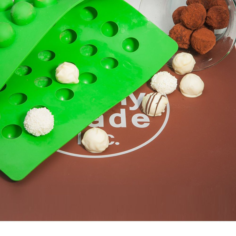 Truffly Made Round Silicone Mold for Chocolate Truffles, Ganache, Jelly, Pralines and Caramels by Truffly Made (Image #2)