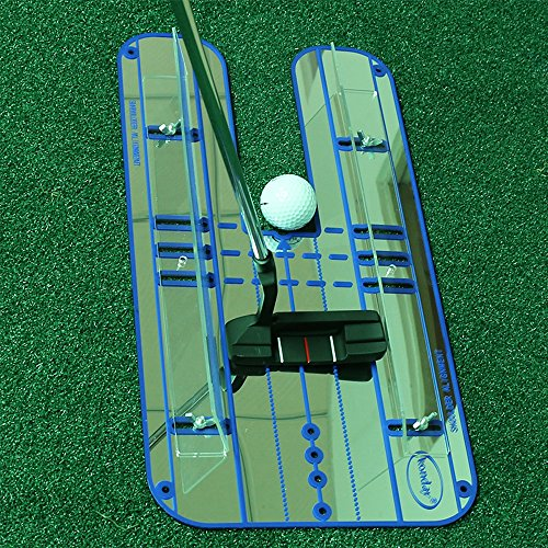 Sumger Golf Putting Mirror with Guid Rail, Alignment Training Aid Putting Trainer Eye Line Golf Practice Mirror 17.95''x9.29'' by Sumger (Image #6)