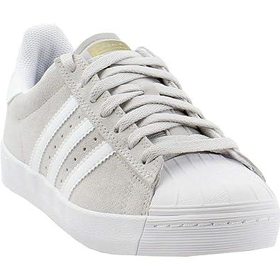 sale retailer f5c60 0ba7c adidas Skateboarding Superstar Vulc ADV Grey One/Footwear White/Gold  Metallic Men's 9.5, Women's 10.5