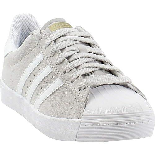 55ac1c7de76 adidas Skateboarding Unisex Superstar Vulc ADV Grey One Footwear White Gold  Metallic 9.5 Women
